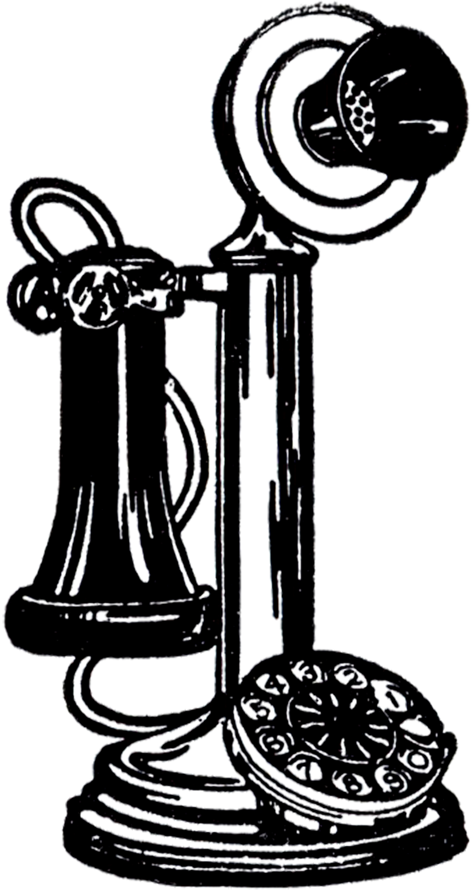 959x1800 Phone Clipart Old Telephone