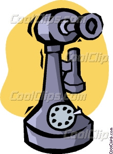 220x300 Old Telephone Vector Clip Art