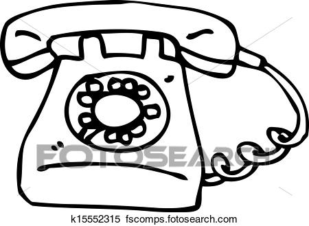 450x329 Clipart Of Cartoon Old Style Telephone K15552315