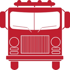 300x298 Fire Engine Clipart Image