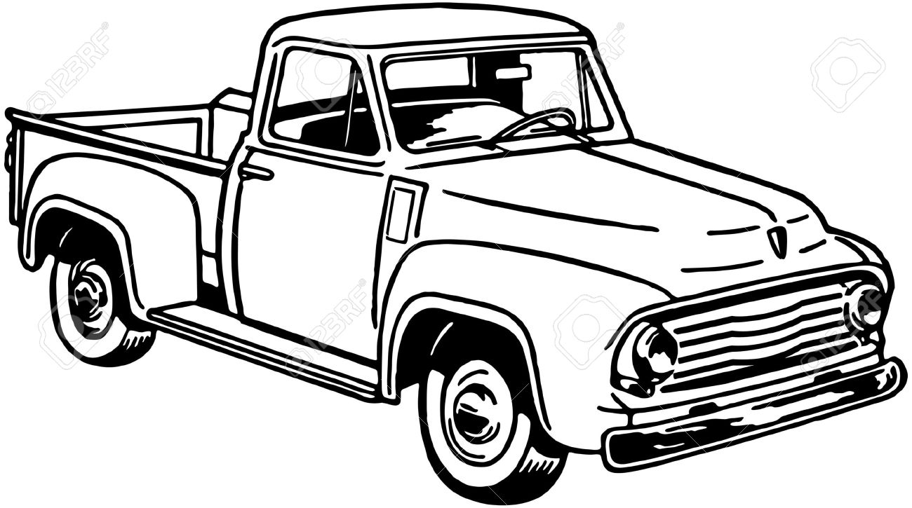 1300x725 Old Pickup Truck Clipart
