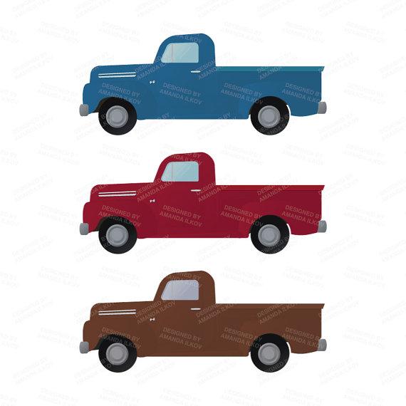 570x570 Premium Old Pickup Trucks Clip Art Truck Clipart Truck Clip