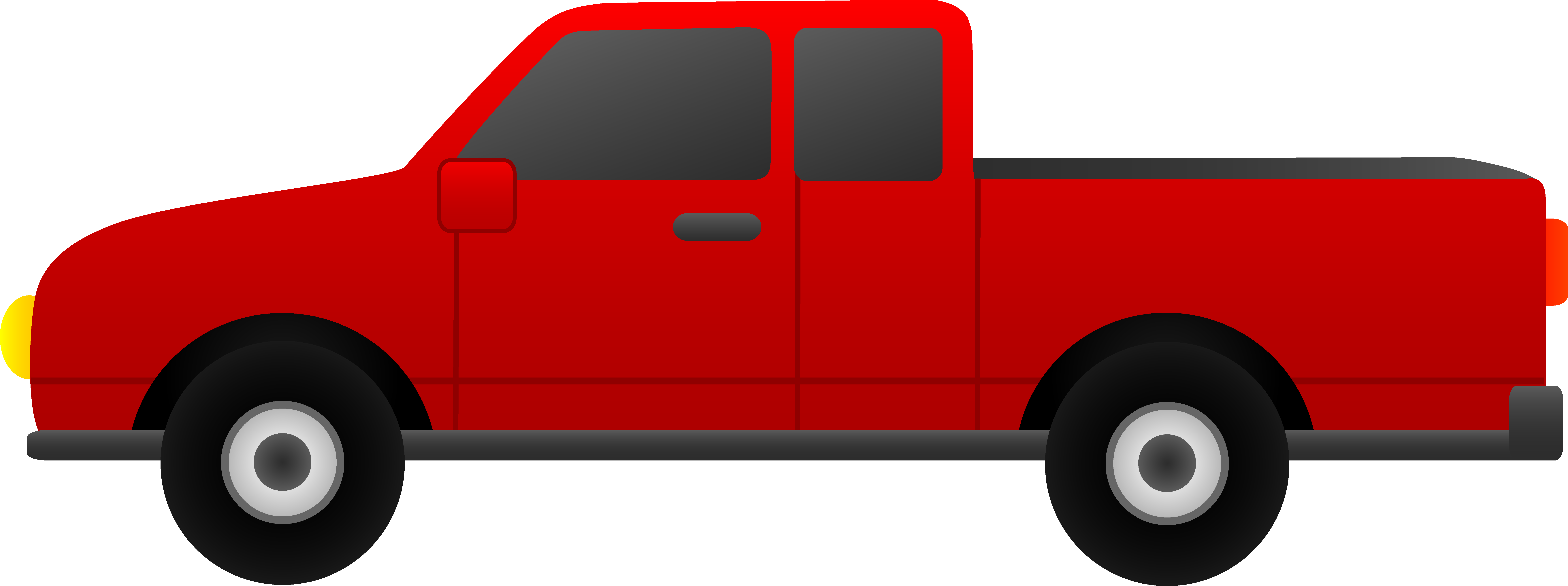 8576x3207 Red Pickup Truck Clip Art