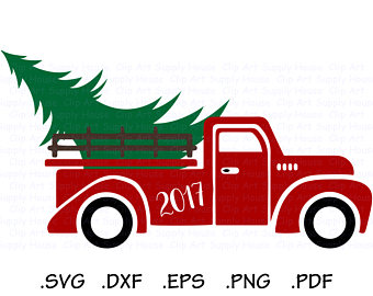 340x270 Sale Christmas Tree Truck Old Truck Vintage Antique Svg