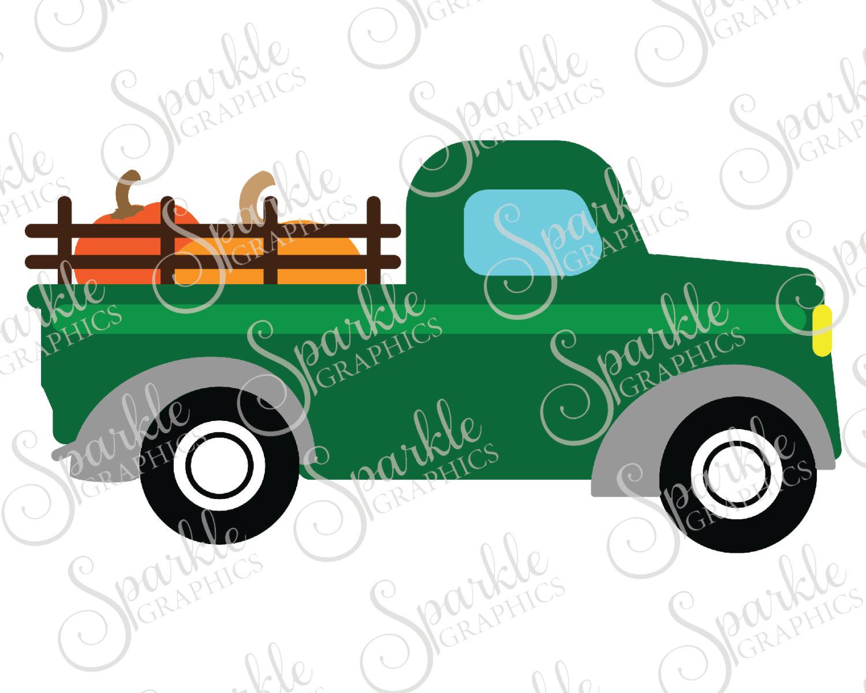 1500x1200 Antique Truck Cut File Fall Svg October Svg Pumpkin Vintage Truck