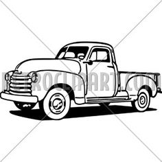236x236 Old Truck Silhouette