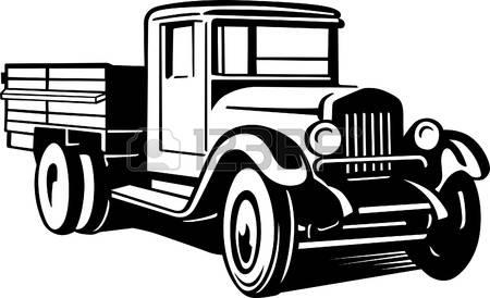 450x274 Vintage Truck Clipart