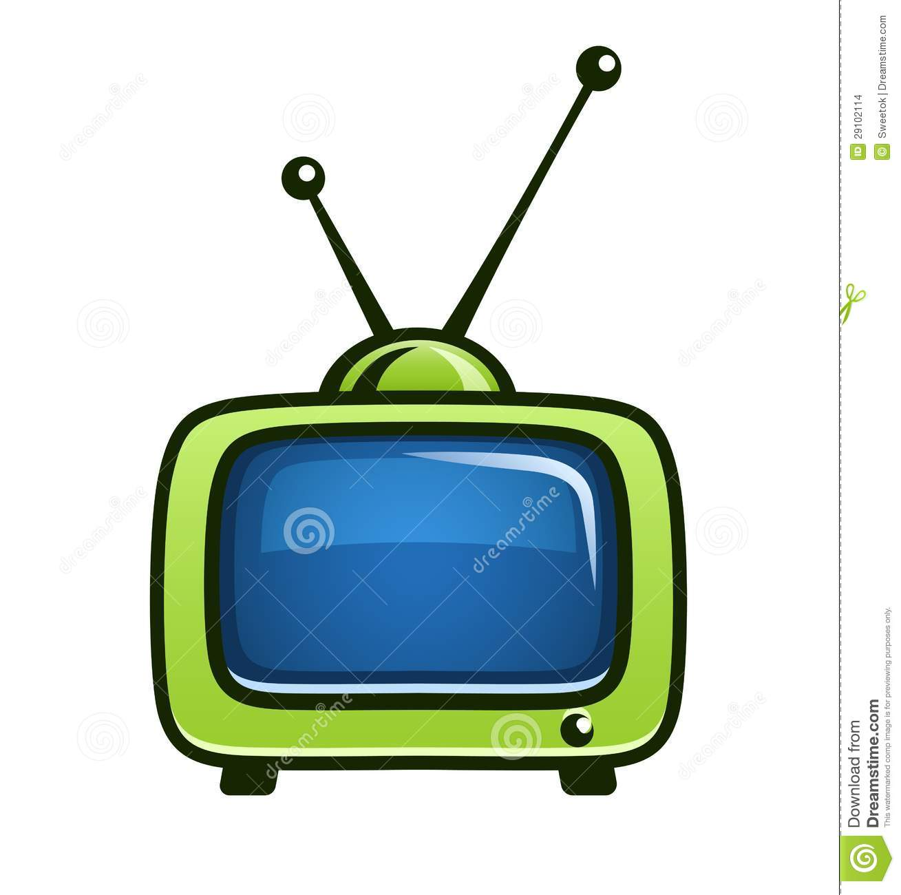 1309x1300 Green Clipart Television