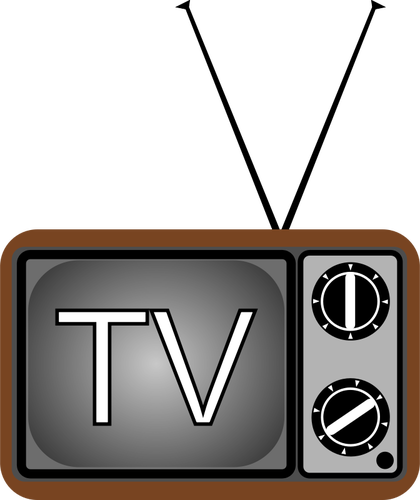 420x500 Old Tv Set Vector Illustration Public Domain Vectors