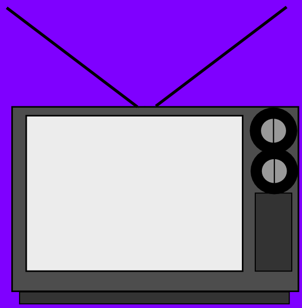 588x600 Old Tv Clip Art