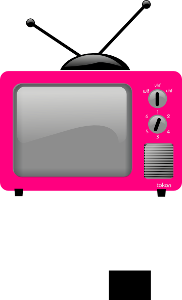360x592 Pink Old Tv Clip Art