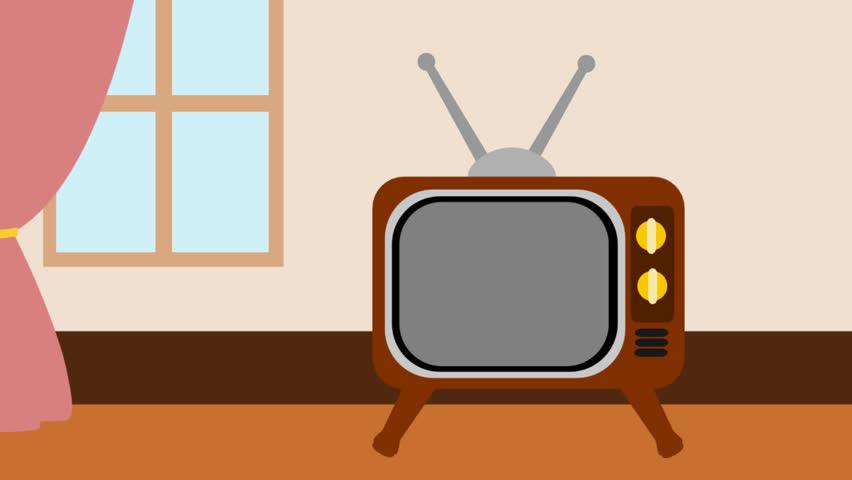 852x480 Show Clipart Television Set