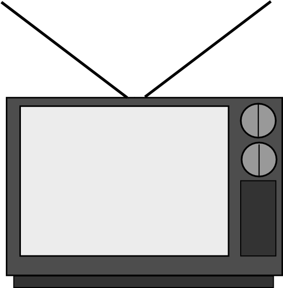 582x592 Television Clip Art Free Vector 4vector