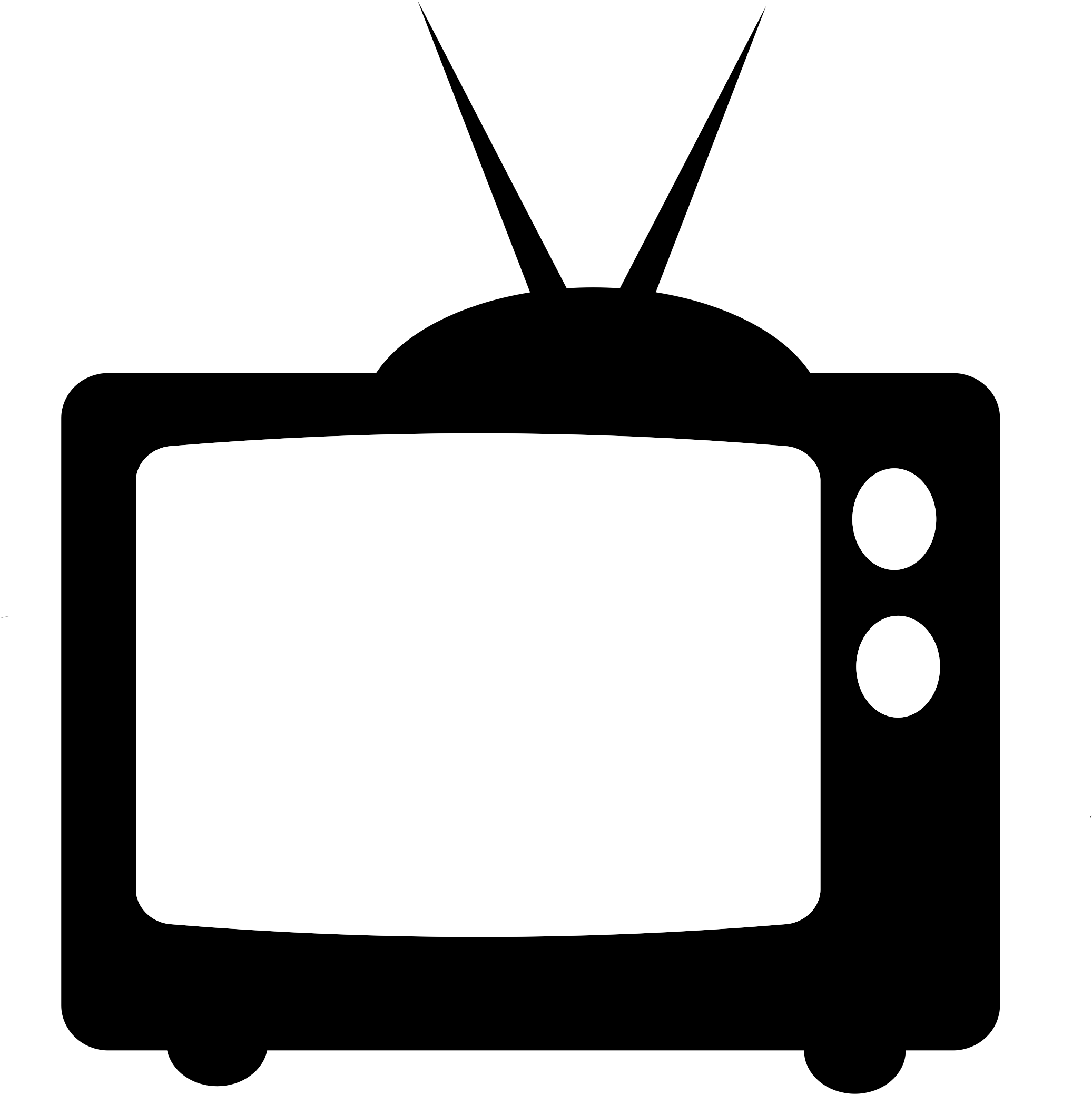 2073x2075 Television Clip Art Free Clipart Images