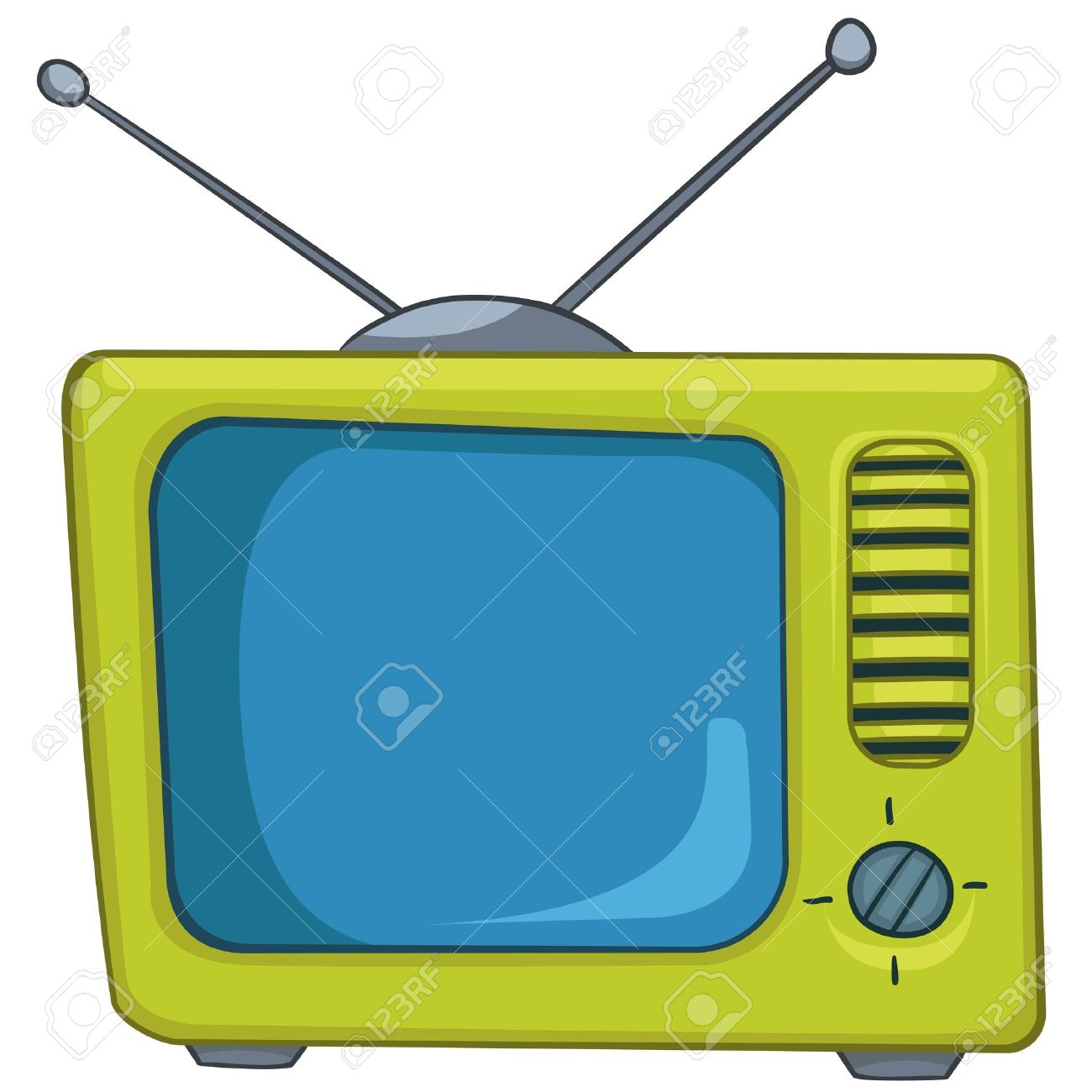 1300x1300 Cartoon Appliences Old Tv Royalty Free Cliparts, Vectors,