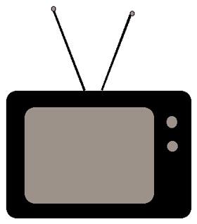 280x318 Clipart Tv