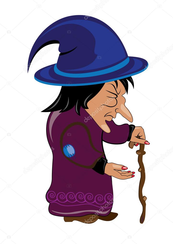 723x1023 Old Witch Stock Vector Dvargg