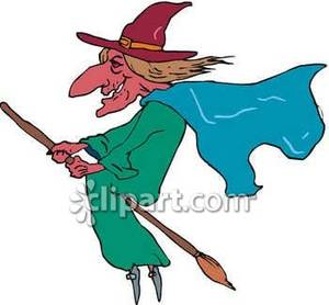 300x278 Witch Flying On Her Broom