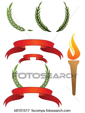 354x470 Clip Art Of Olympic Signs K6101517