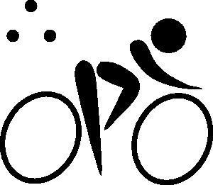 300x261 Olympic Sports Triathlon Pictogram Clip Art