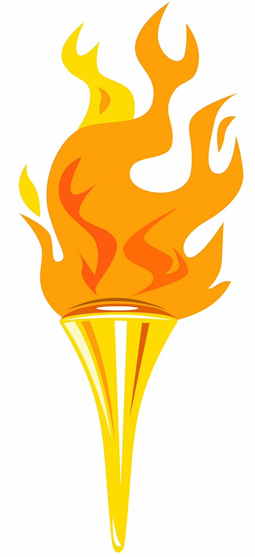 1063x2316 Olympic Torch Clipart