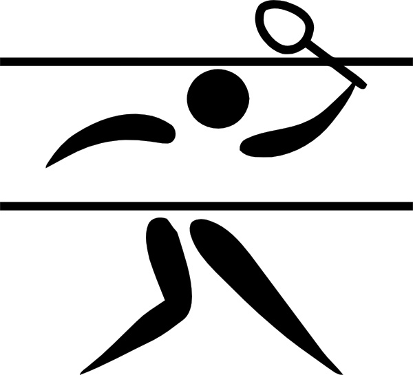 600x545 Olympic Sports Badminton Pictogram Clip Art Free Vector In Open