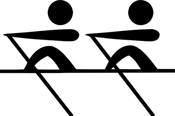 600x399 Olympic Sports Rowing Pictogram Clip Art Free Vector In Open