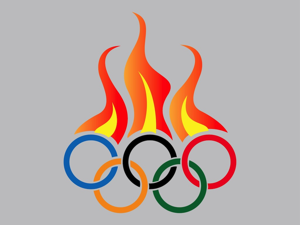 1024x768 Olympic Rings 2014 Clipart