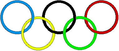 382x164 Olympic Rings Border Clip Art