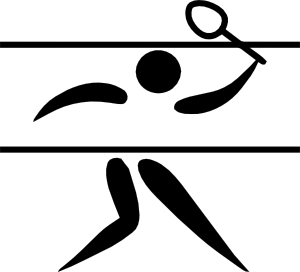 300x272 Olympic Sports Badminton Pictogram Clip Art