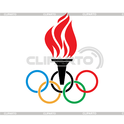 400x400 Olympic Rings Clipart