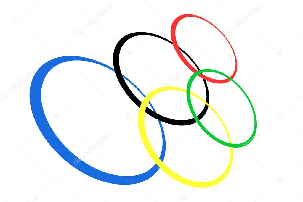 1023x683 Olympic Rings Isolated On White, Vector Stock Vector Yuriy61