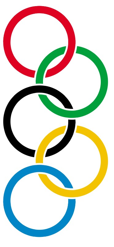371x805 Tissue Paper Olympic Rings