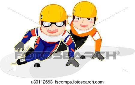 450x285 Clipart Of Sports, Short Track, Winter Olympics, Speedskating