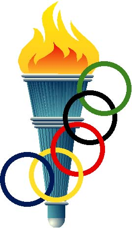 269x462 Flame clipart olympics