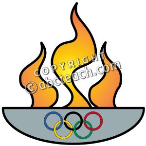 300x300 Olympic flame clipart