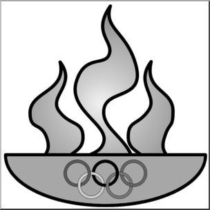 304x304 Clip Art Olympic Flame Grayscale I Abcteach