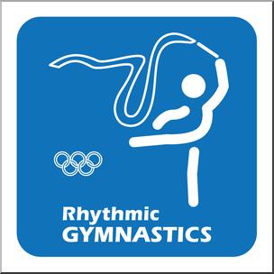 304x304 Clip Art Summer Olympics Event Icon Gymnastics Rhythmic Color I