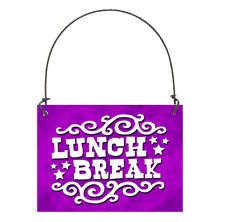 225x222 Items Similar To A Lunch Break Sign To Put On Your Door Or Curtain