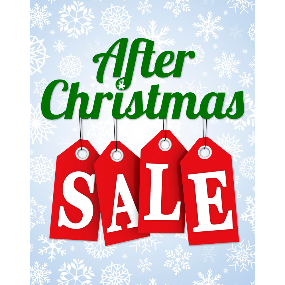 1000x1000 Christmas Retail Store Supplies After Christmas Sale Sign