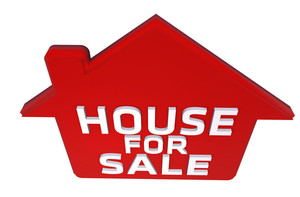 300x197 House For Sale Sign On House Royalty Free Stock Image