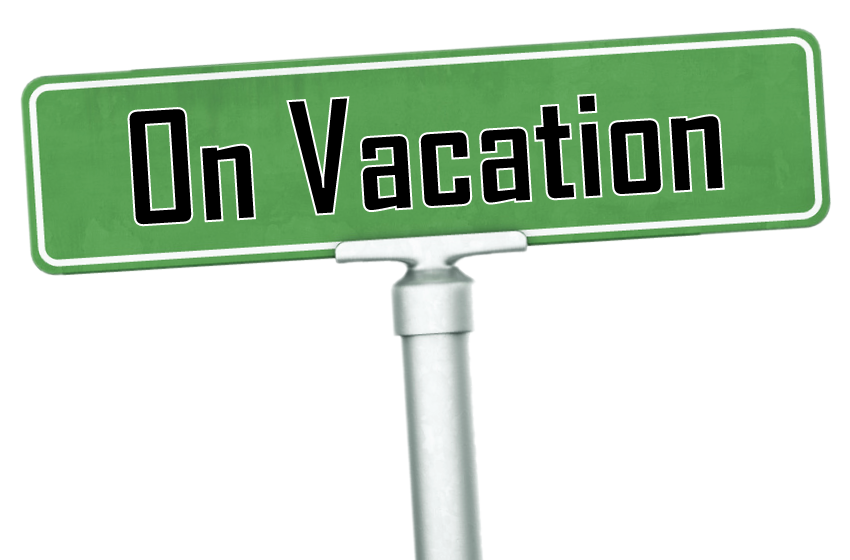 850x560 On Vacation Sign Images