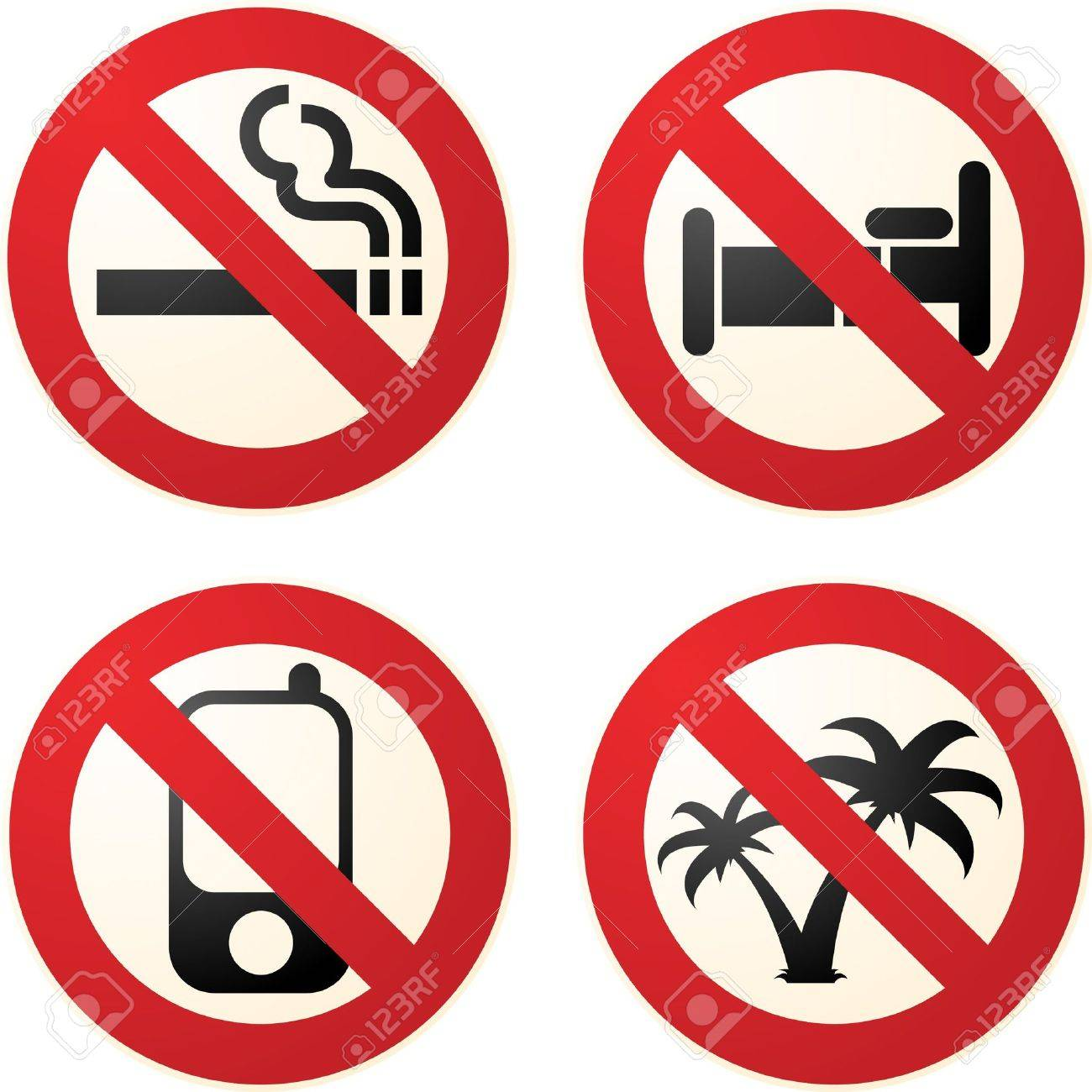 1300x1300 Signs Telling You Not To Smoke, To Phone, To Sleep, To Go
