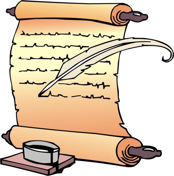 600x607 Scrolls Clip Art