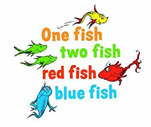 300x252 Graphique Home Decal, Dr. Seuss One Fish Two Fish