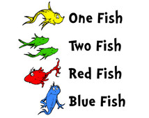 214x170 One Fish Two Fish Red Fish Blue Fish Clip Art