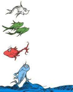 236x297 Red Fish Blue Fish Clip Art