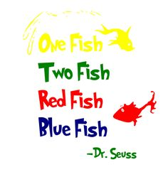 236x242 Dr Seuss One Fish Two Fish Red Fish Blue Fish Wall Quote Vinyl