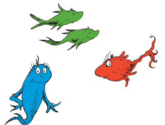 picture relating to One Fish Two Fish Printable titled A person Fish 2 Fish Crimson Fish Blue Fish Clipart Cost-free obtain
