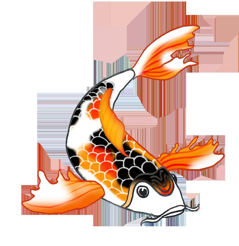 945x973 Colorful Koi Fish Drawings